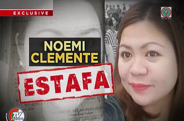 Noemi Clemente scammed more than 30 million pesos from OFWs and fellow-Filipinos. [Image Credit: TV Patrol/Facebook]
