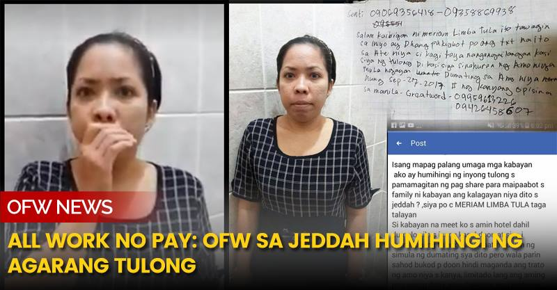An OFW in Jeddah is now pleading for help.