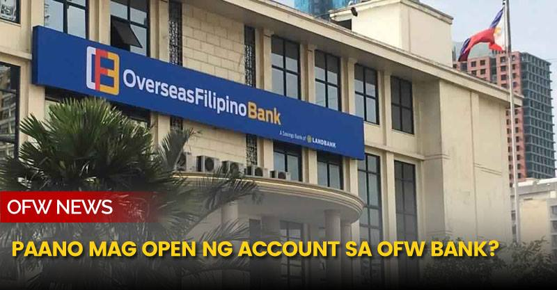 The OFW Bank is now open for service.