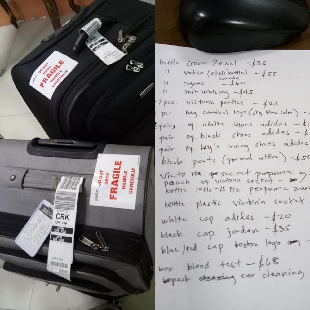 Another OFW claimed that the employees of Clark International Airport opened their luggage. [Image Credit: Weljune Tuggay Ticala / Facebook]