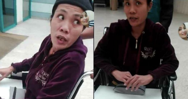 The disabled OFW is finally rescued thanks to Facebook. [Image Credit: غثز غثز / Facebook]