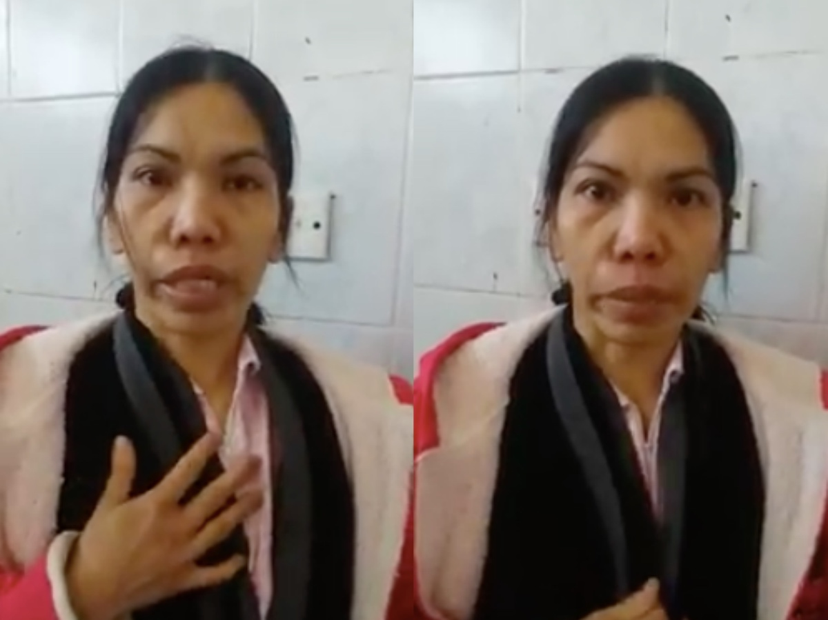 The domestic helper in Saudi said that she's suffering everyday. [Image Credit: Pinoy Ofw Pautwasan / Facebook]