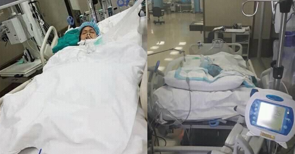 A domestic helper is currently confined in Mubarak Hospital. [Image Credit: Win'win Verzosa / Facebook]