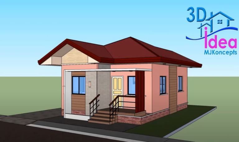 Simple And Space Saving Two Bedroom Small House Plan