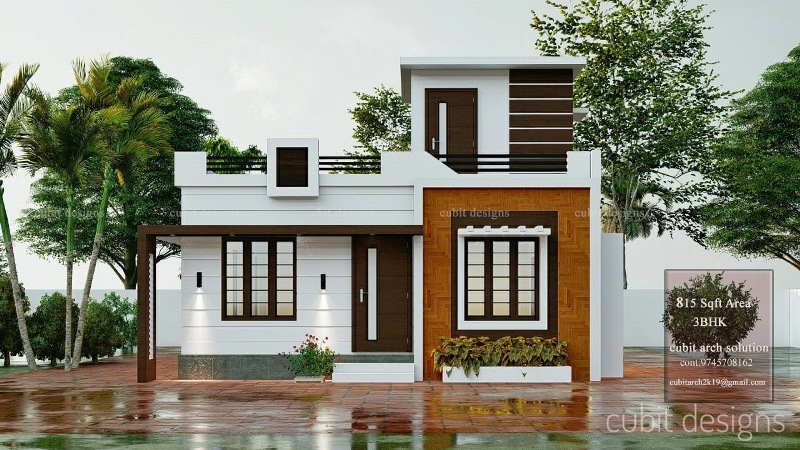 Double Story House Plan 3 Bedroom Home In A 315 Square Feet Area